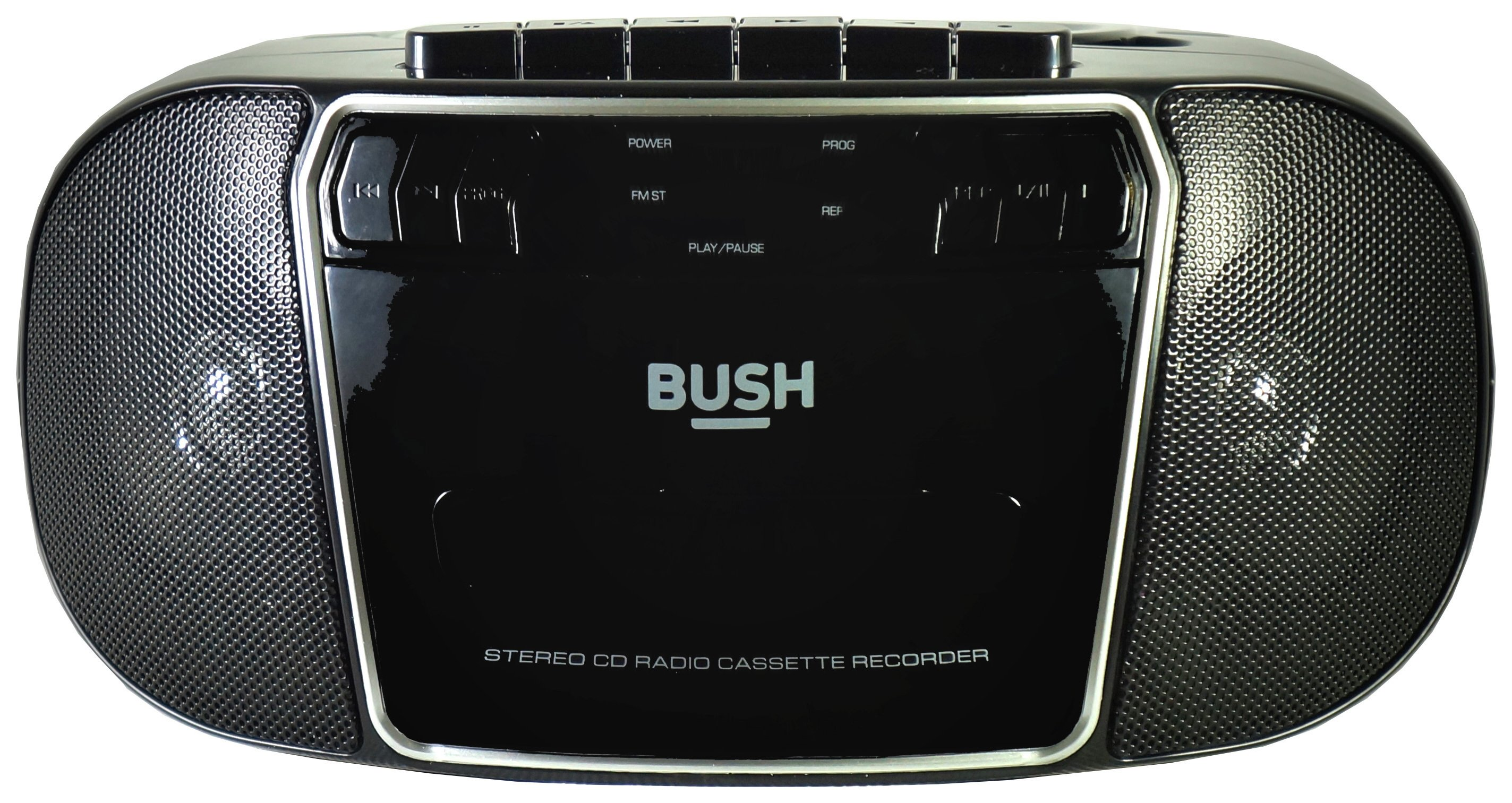 Bush Bush KBB500 CD Radio Cassette Boombox - Black/Silver.