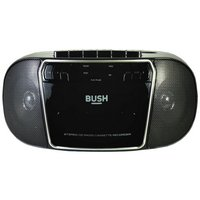 Bush KBB500 CD Radio Cassette Boombox - Black/Silver