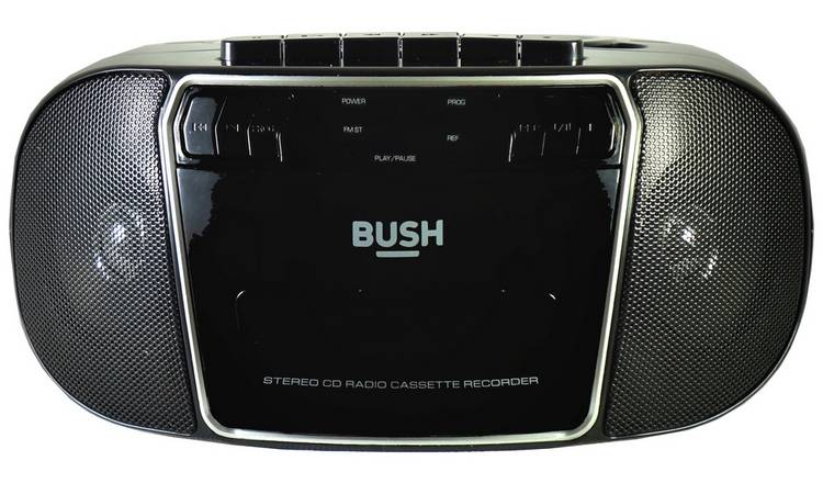 Bush  CD Radio Cassette Boombox - Black / Silver