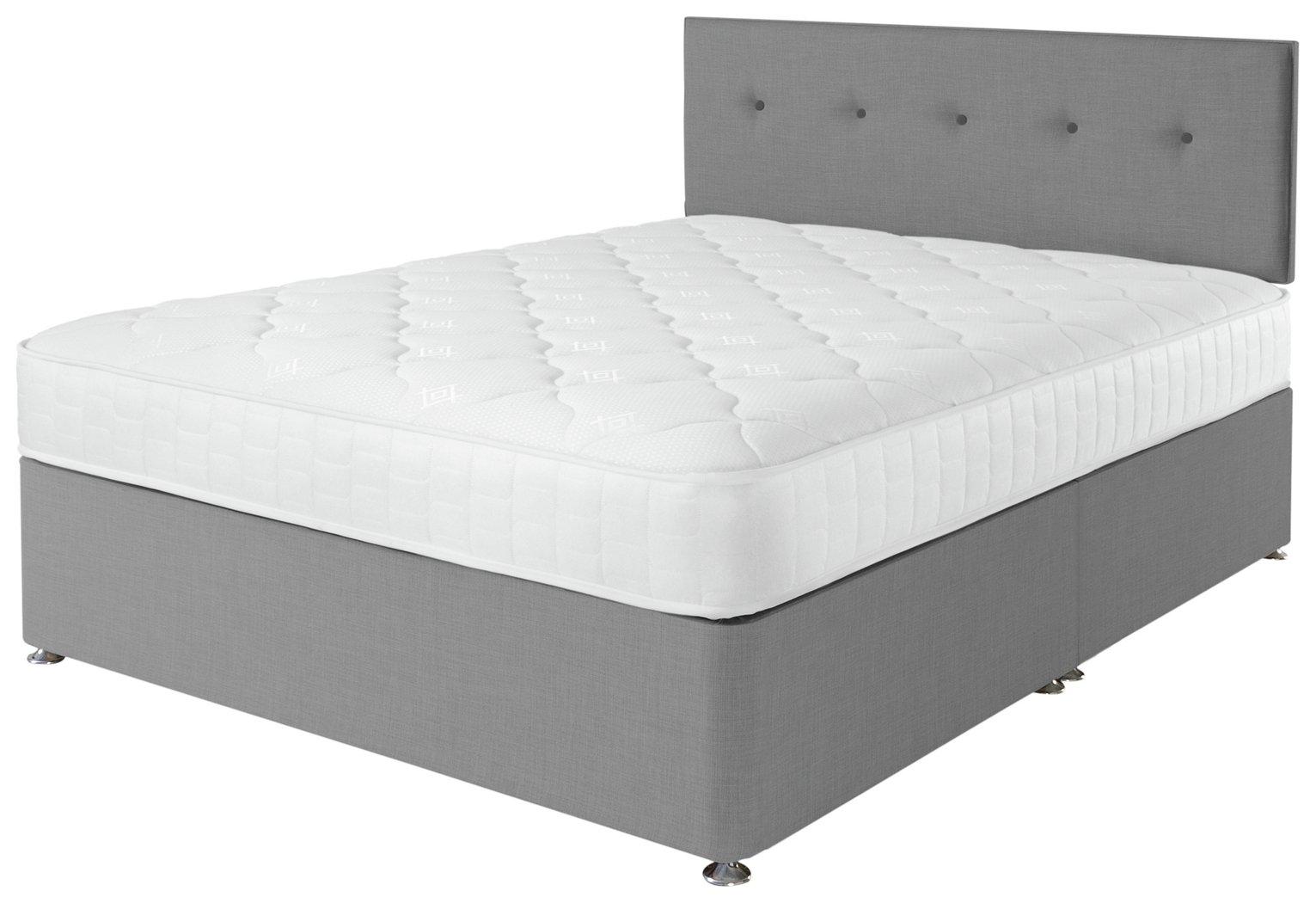 Airsprung Dalham Grey Memory Divan Bed - Kingsize