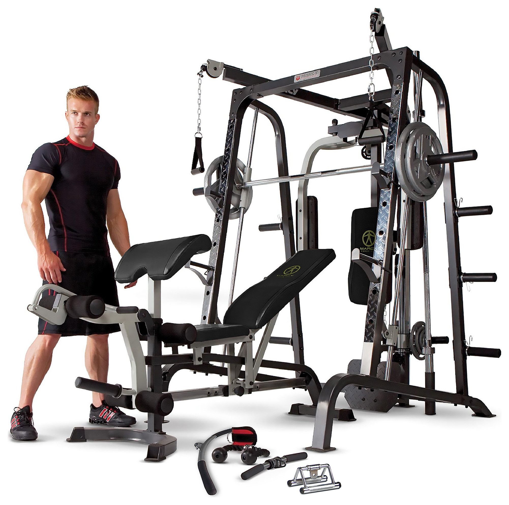 'Marcy Md9010g Deluxe Smith Machine Home Multi Gym.