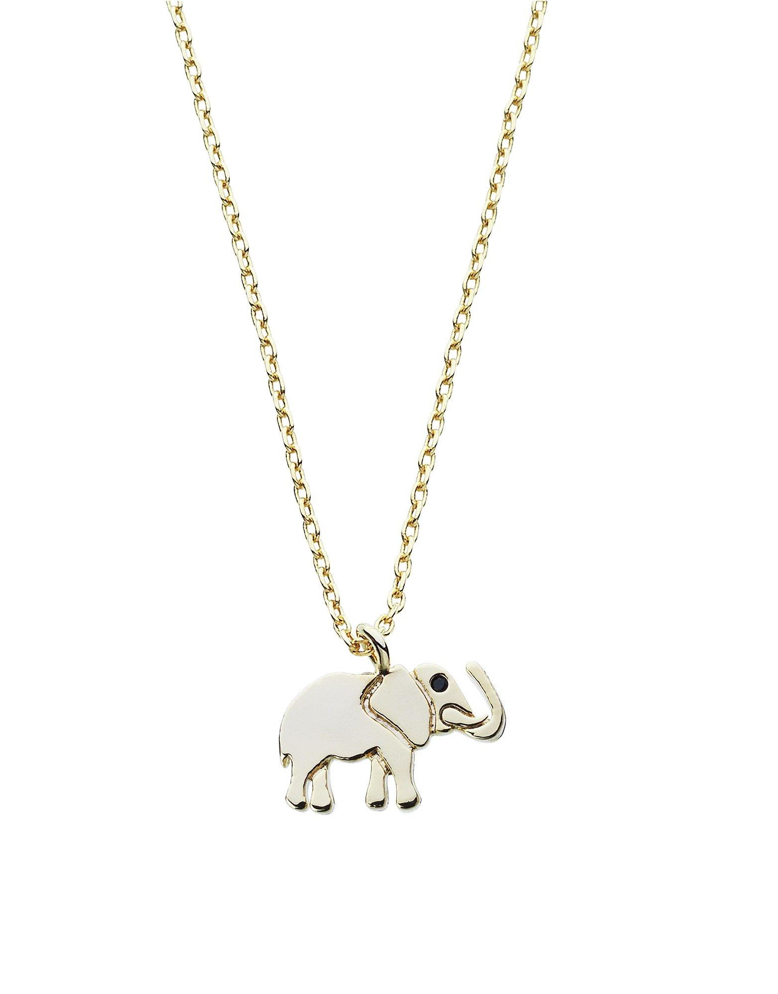 Image of Amelia Grace Gold Colour Elephant Necklace