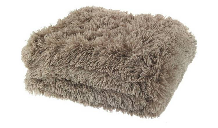 Catherine Lansfield Cuddly Throw 150x200cm - Natural.