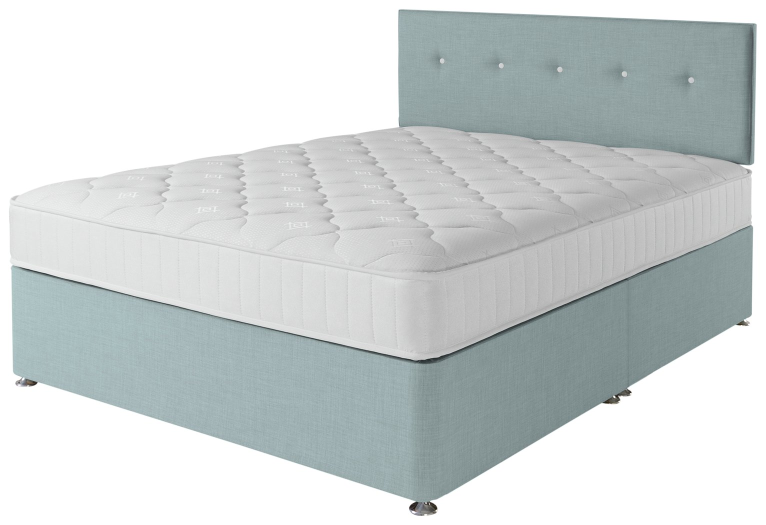 Airsprung Dalham 800 Pocket Memory Blue Divan Bed - Kingsize