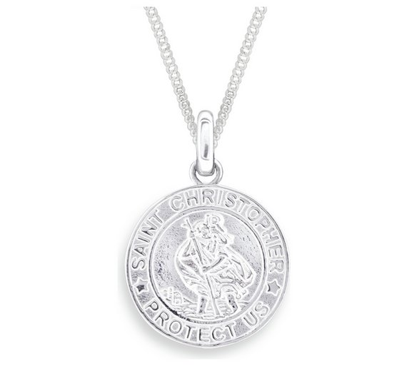 Buy revere mens sterling silver st christopher pendant mens click to zoom mozeypictures Image collections