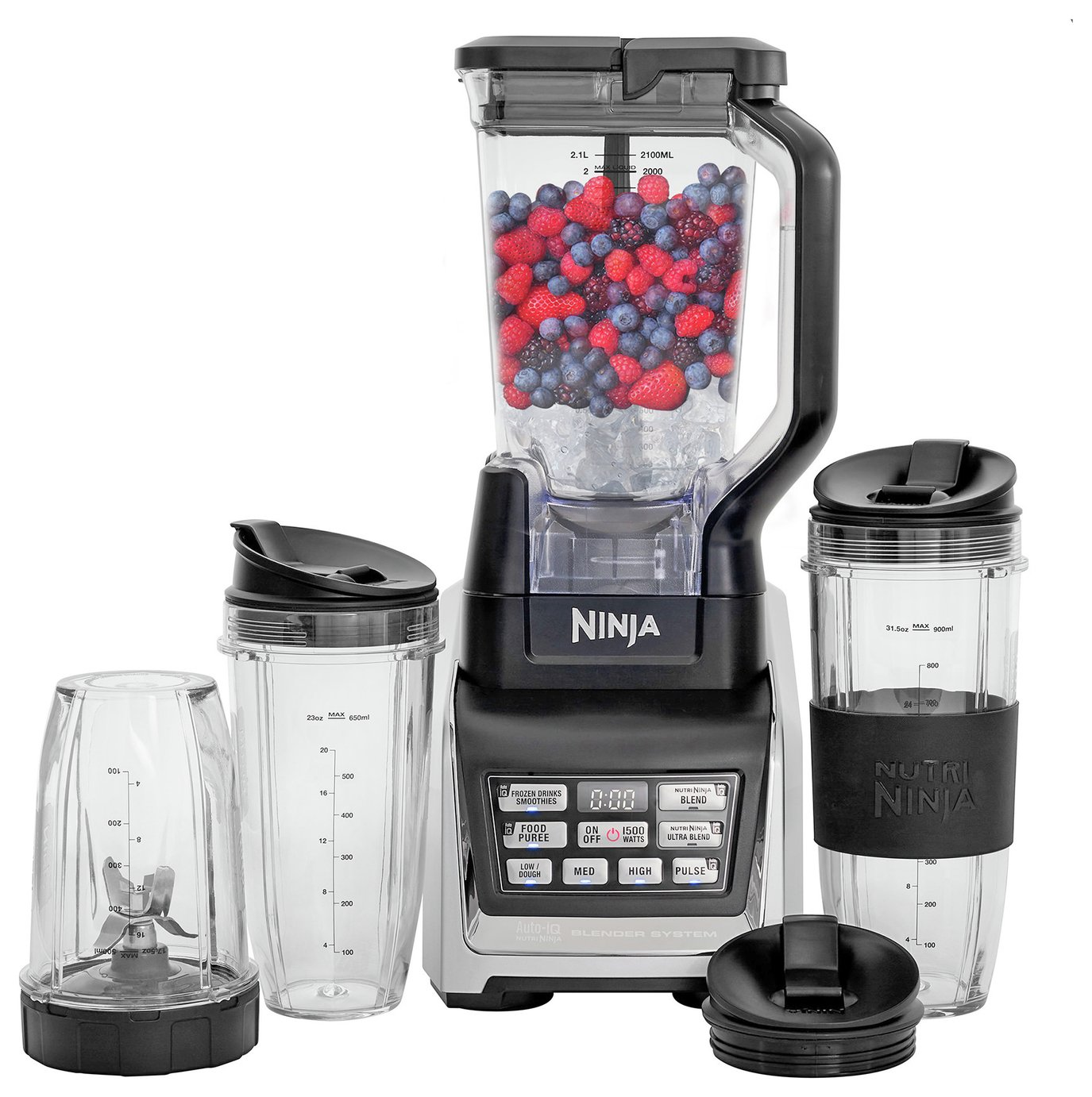 Ninja 6 Piece Nutritional Duo Blender - Black