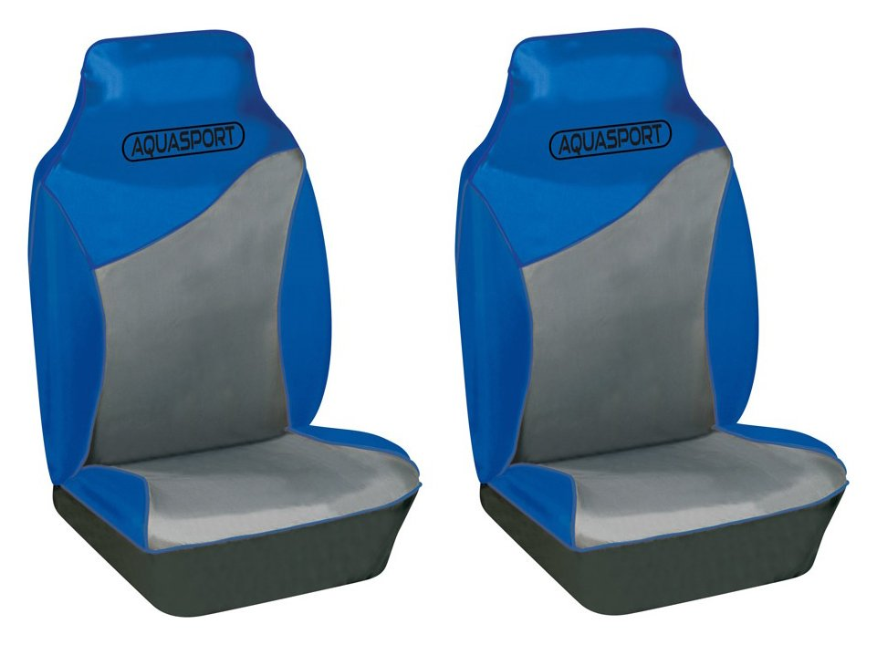 Image of Cosmos - Aquasport Water Resistant Front Seat Covers - Blue