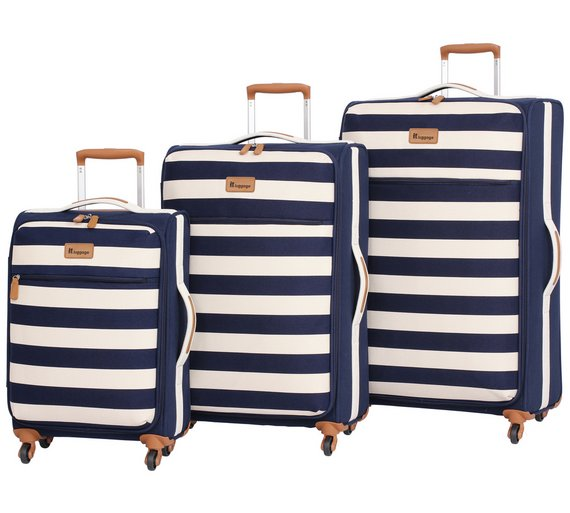 Buy IT Luggage Lightweight Medium 4 Wheel Suitcase - Nautical at ...