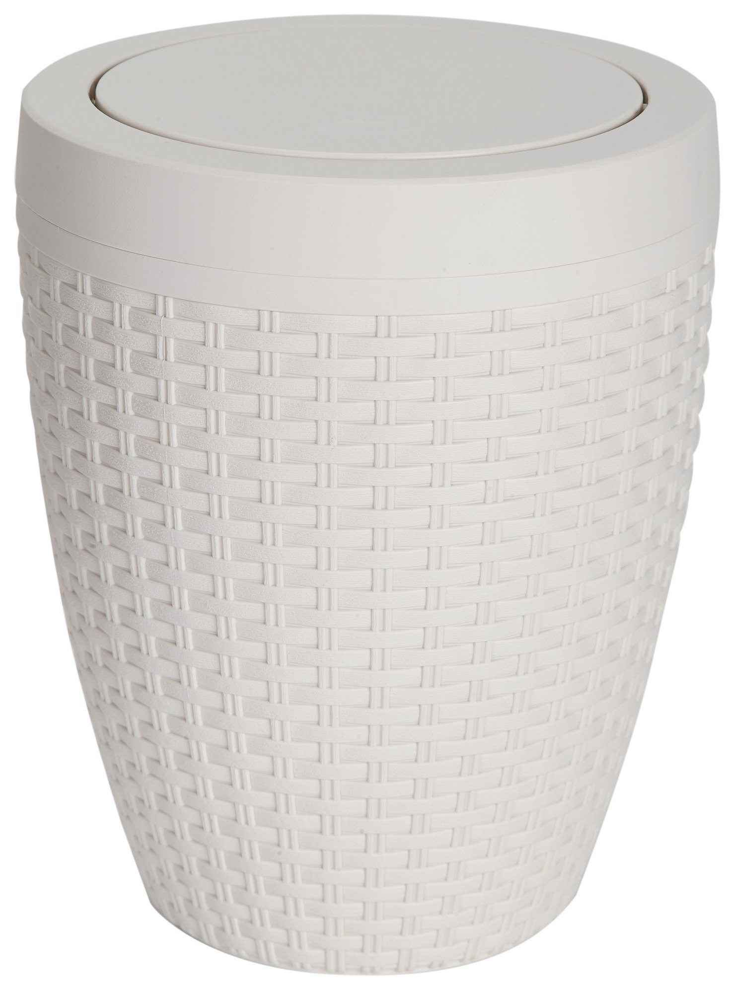 Addis - 5 Litre Faux Rattan Swing Bin - Cream