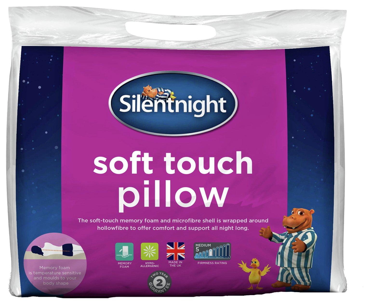 silentnight soft touch memory foam pillow