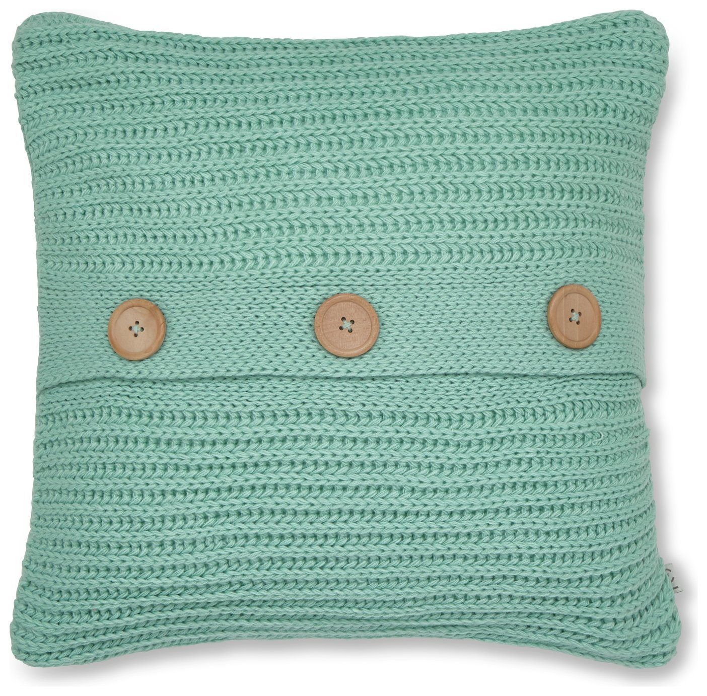 Image of Catherine Lansfield Chunky Knit Cushion - Duck Egg