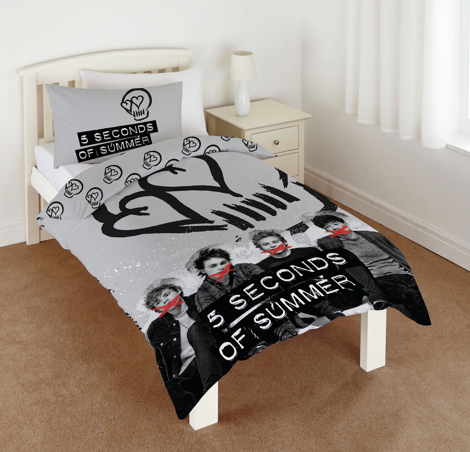 Image of 5 Seconds of Summer Duvet Cover Set - Single.
