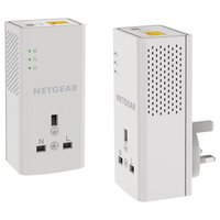 Netgear - 1000Mbps Powerline Kit and Pass Through