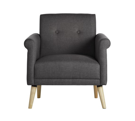 buy hygena evie fabric chair in a box charcoal armchairs and