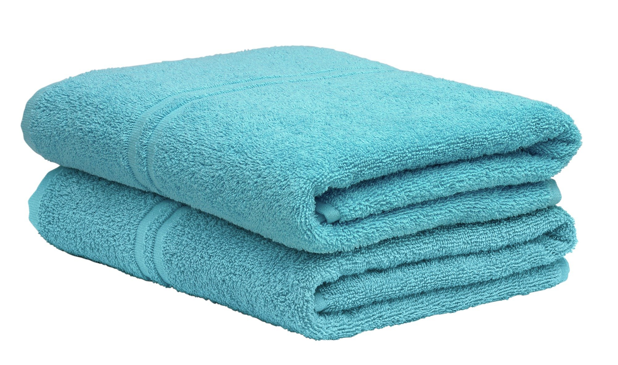 Argos Home Pair of Bath Towels - Crystal Blue