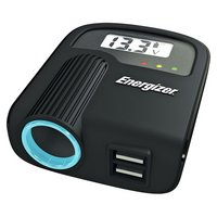 Energizer - 12V Socket & Twin USB Adapter with Battery Monitor