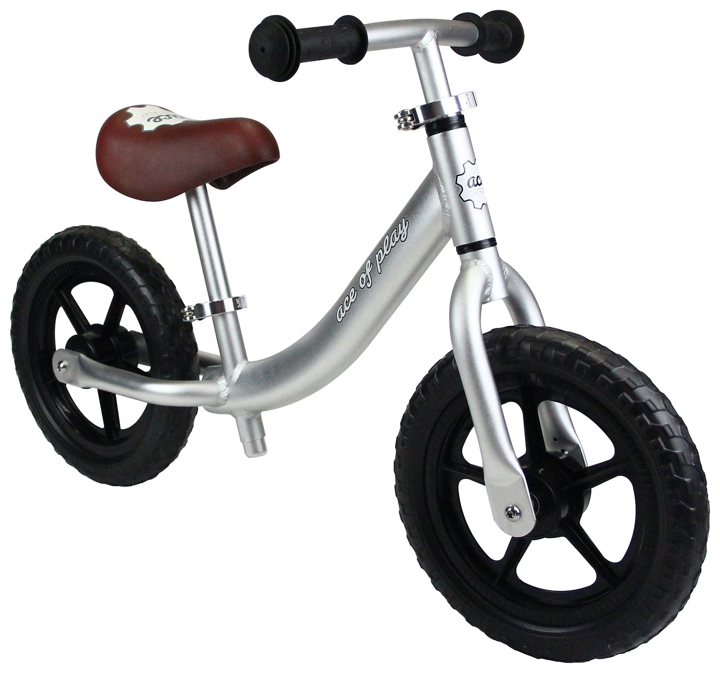 Image of Ace of Play Balance Bike - Anodised Silver.