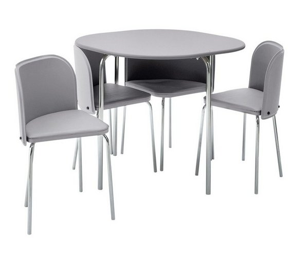 Buy hygena amparo space saving dining table 4 chairs for Space saving seating