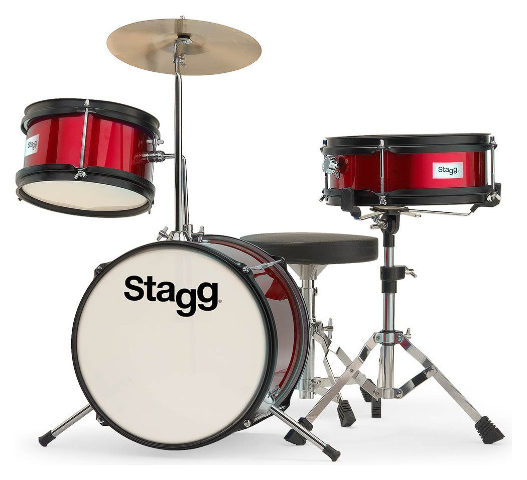 Stagg Junior 3 Piece Drum Kt - Red