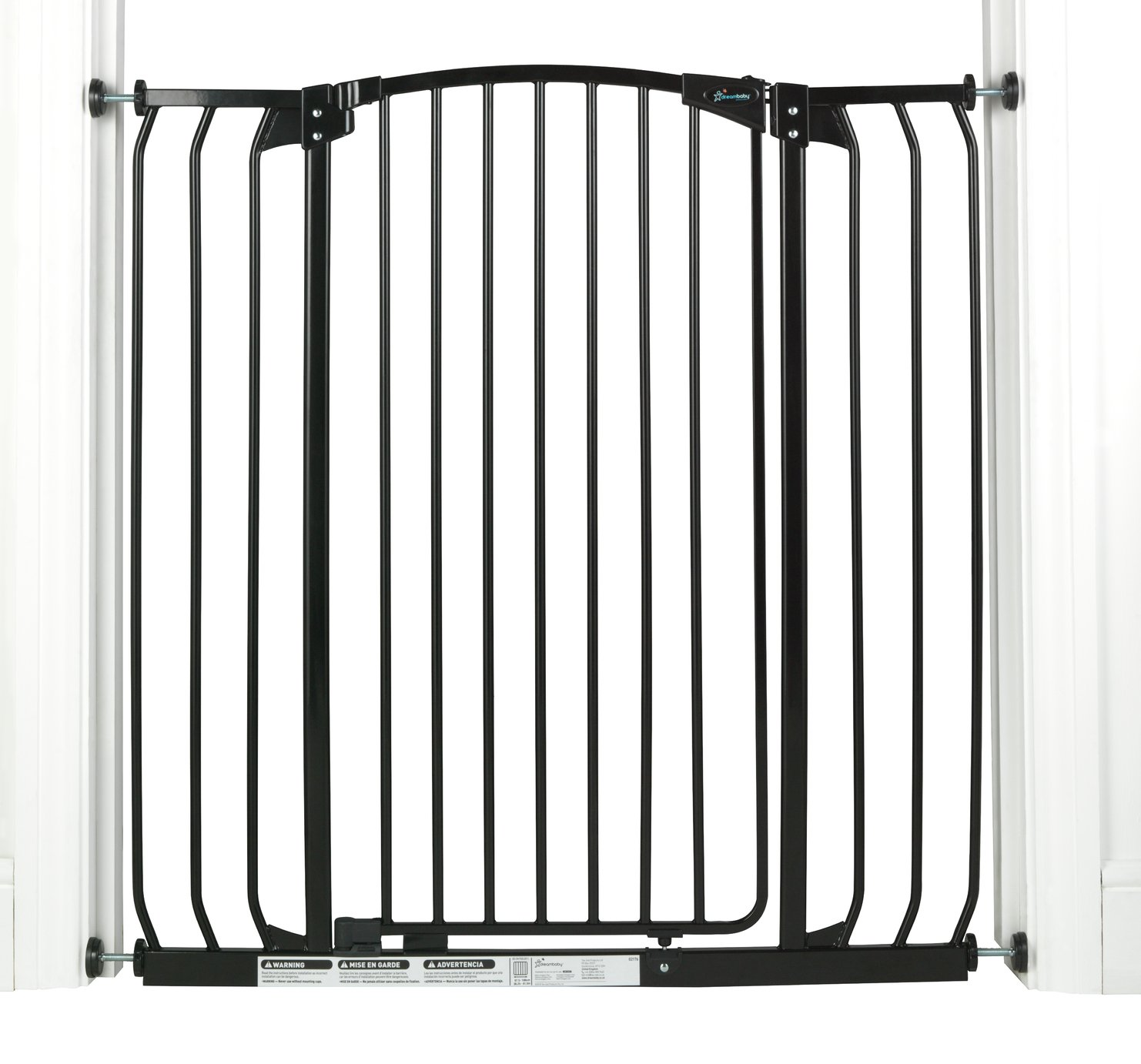 Image of Dreambaby Chelsea Tall Wide Auto-Close Black Gate 97-106cm
