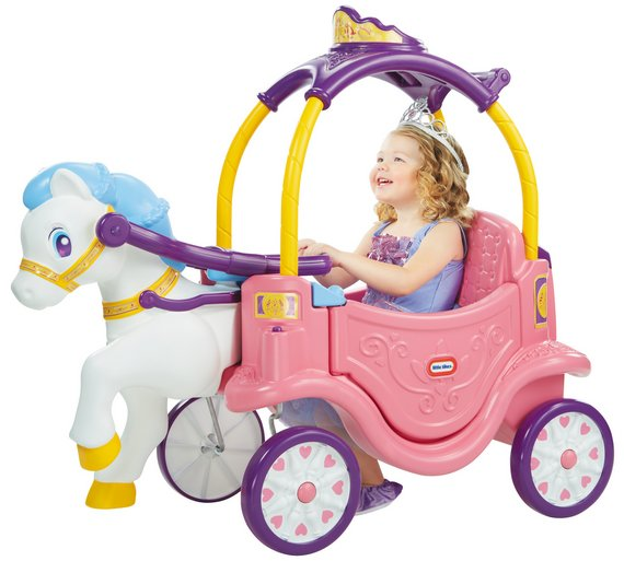 2 little tikes princess horse and carriage
