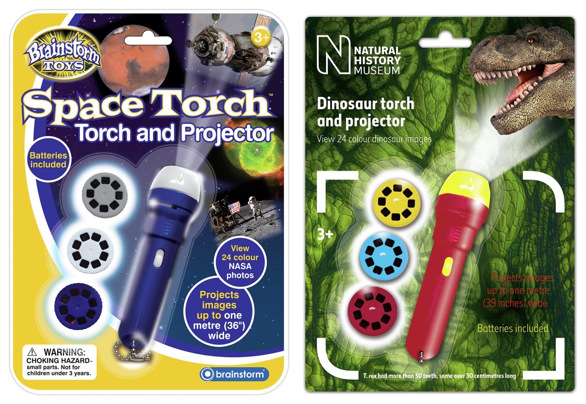 Image of Brainstorm Toys Space Dinosaur Torch Projector Twin Pack
