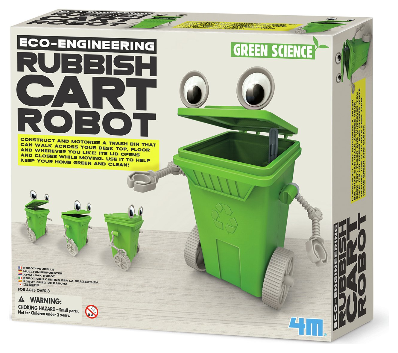 Image of 4M Green Science Eco Engineering Rubbish Cart Robot