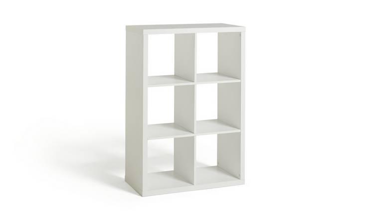 Buy Argos Home Squares Plus 6 Cube Storage Unit - White | Storage units and  drawers | Argos
