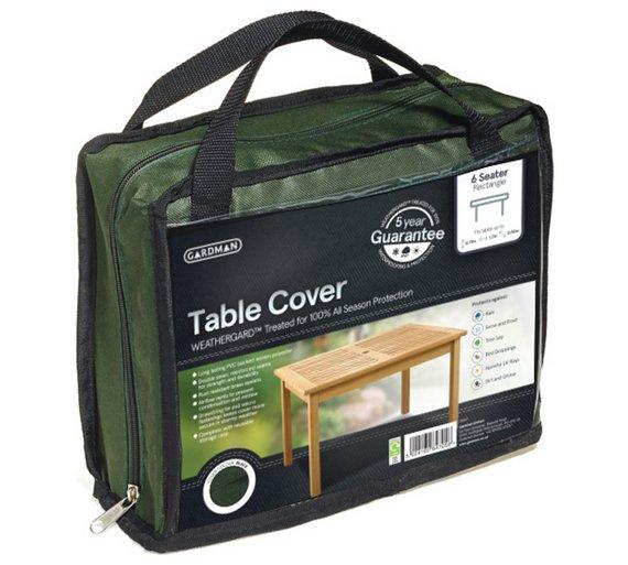 Gardman Garden Furniture Covers Buy gardman rectangular 6 seater table cover green garden click to zoom workwithnaturefo
