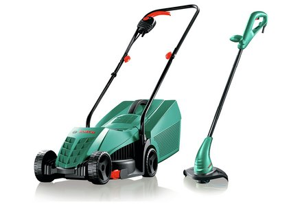 Bosch Corded 32cm Mower and Trimmer Twin Pack.