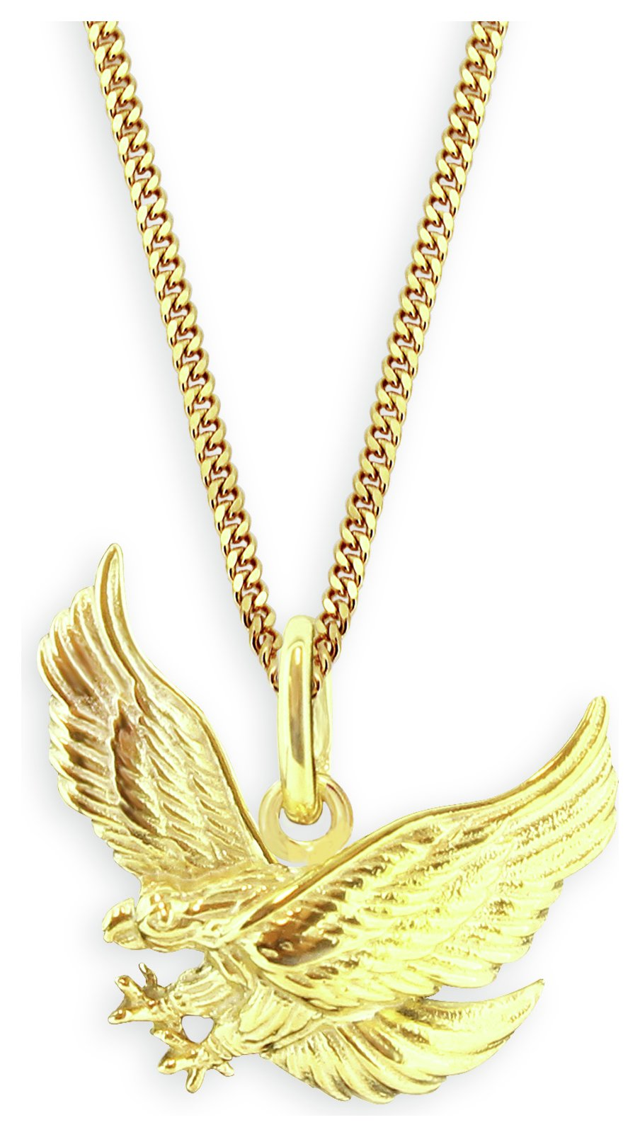 Revere Men's 9ct Gold Plated Sterling Silver Eagle Pendant