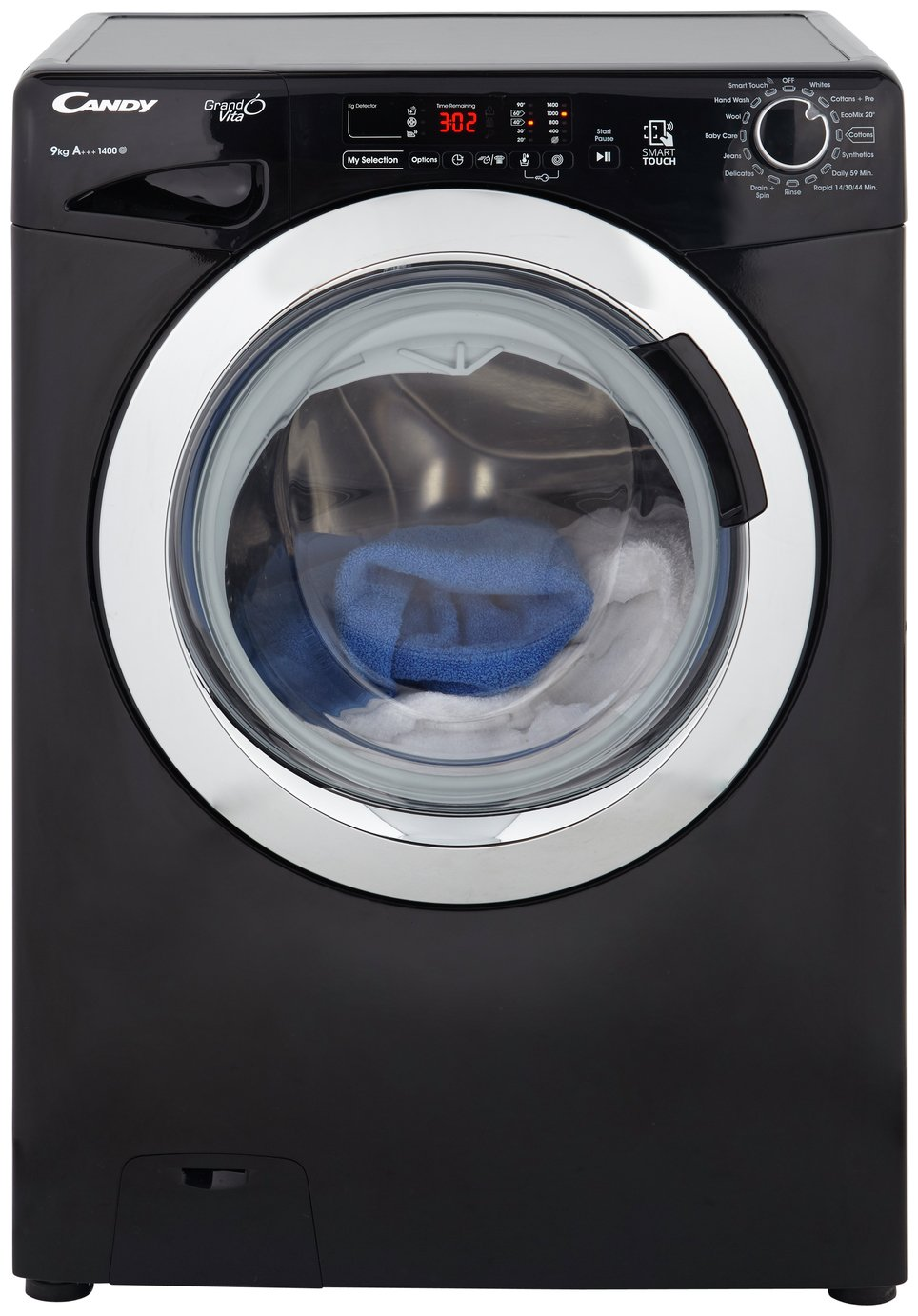 Candy GVS149DC3B 9KG 1400 Spin Washing Machine - Black