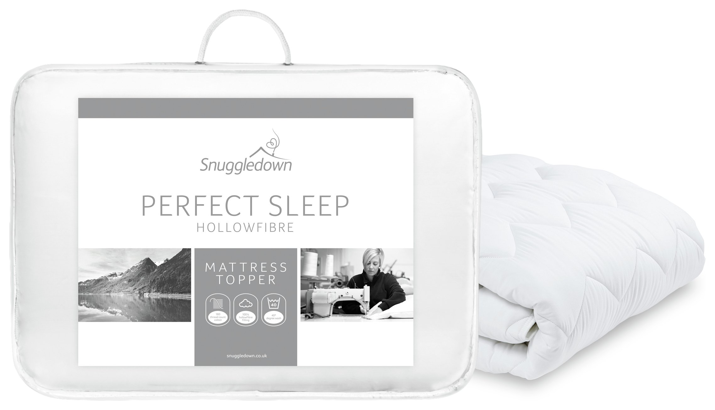 snuggledown perfect sleep mattress topper double review. Black Bedroom Furniture Sets. Home Design Ideas