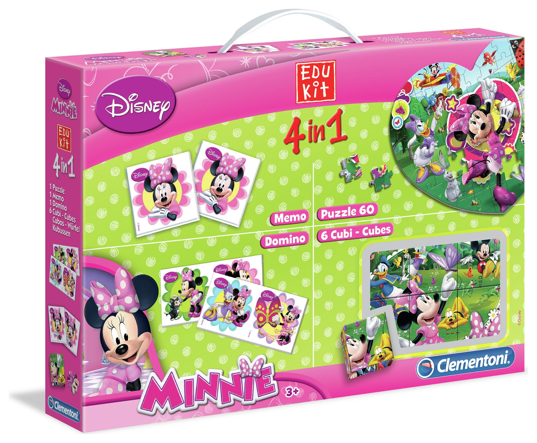 Image of Clementoni Minnie Mouse 4 in 1 Games Set.