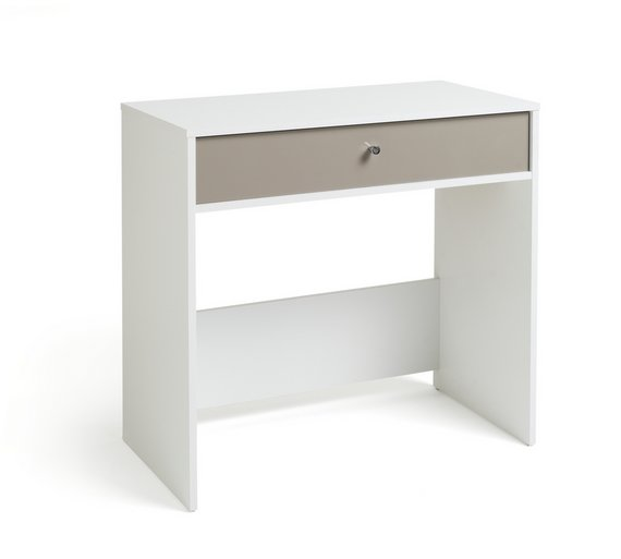 Argos home gloss front compact laptop desk white