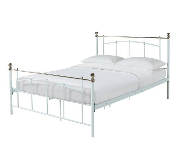 Buy Argos Home Yani Double Bed Frame - White | Bed frames | Argos