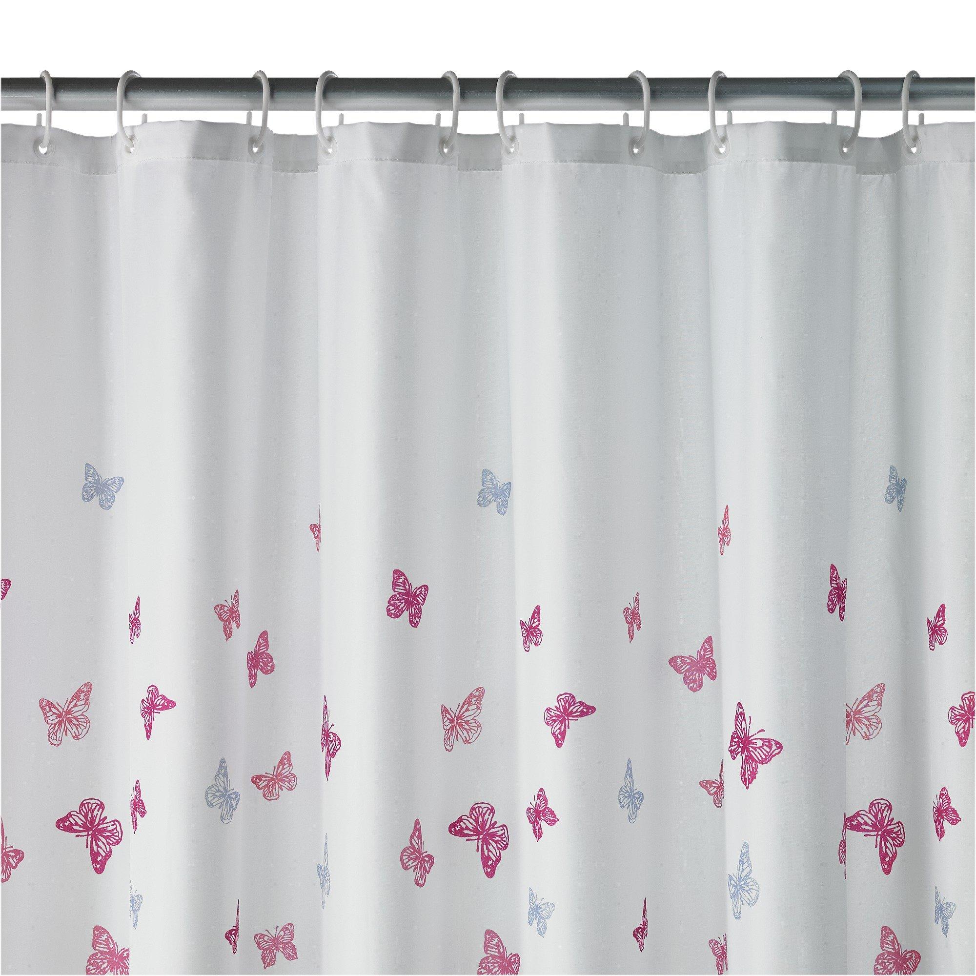 home butterfly scatter shower curtain. Black Bedroom Furniture Sets. Home Design Ideas