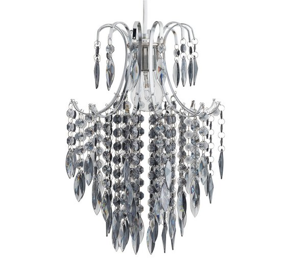 Buy argos home kirsty beaded shade grey lamp shades argos argos home kirsty beaded shade grey aloadofball