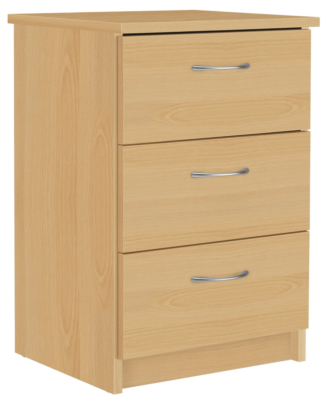 Argos Home Cheval 3 Drawer Bedside Chest