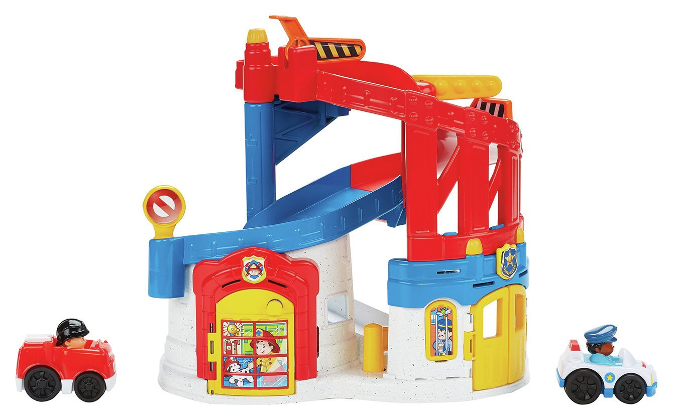 Image of Fisher-Price - Little People Race and Chase Rescue.