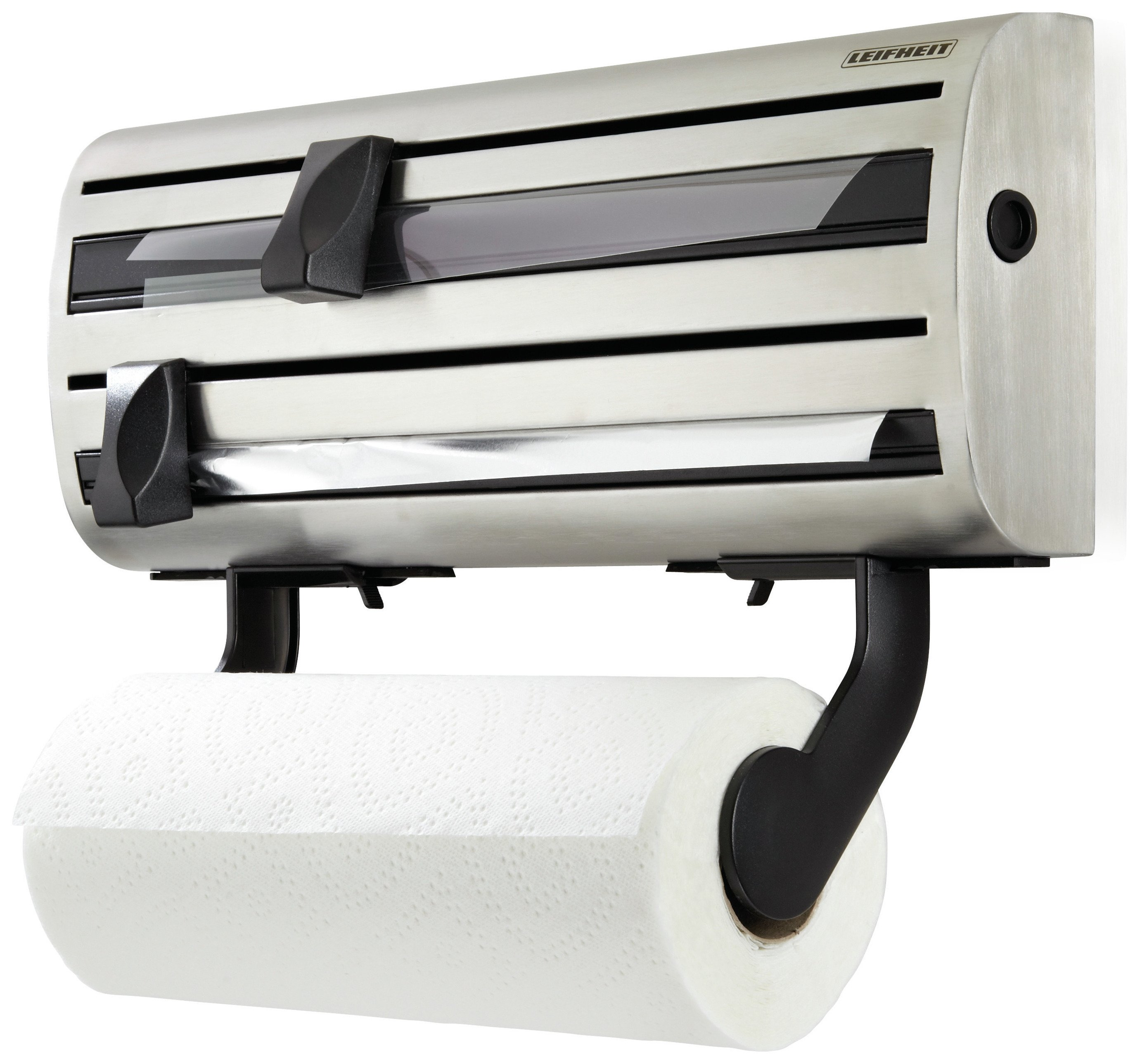 Image of Leifheit Kitchen Roll, Cling Film and Foil Dispenser