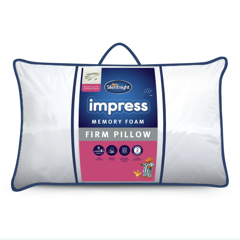 silentnight impress firm memory foam pillow gay times uk. Black Bedroom Furniture Sets. Home Design Ideas