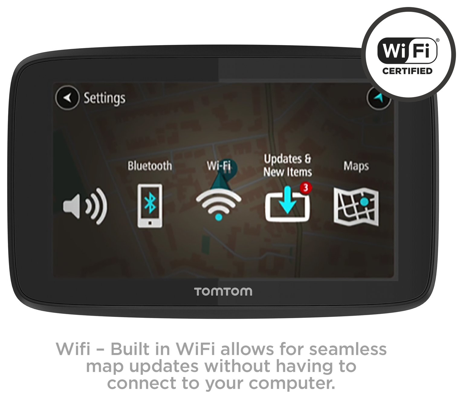 tomtom go 6200 sat nav with world maps traffic wifi. Black Bedroom Furniture Sets. Home Design Ideas