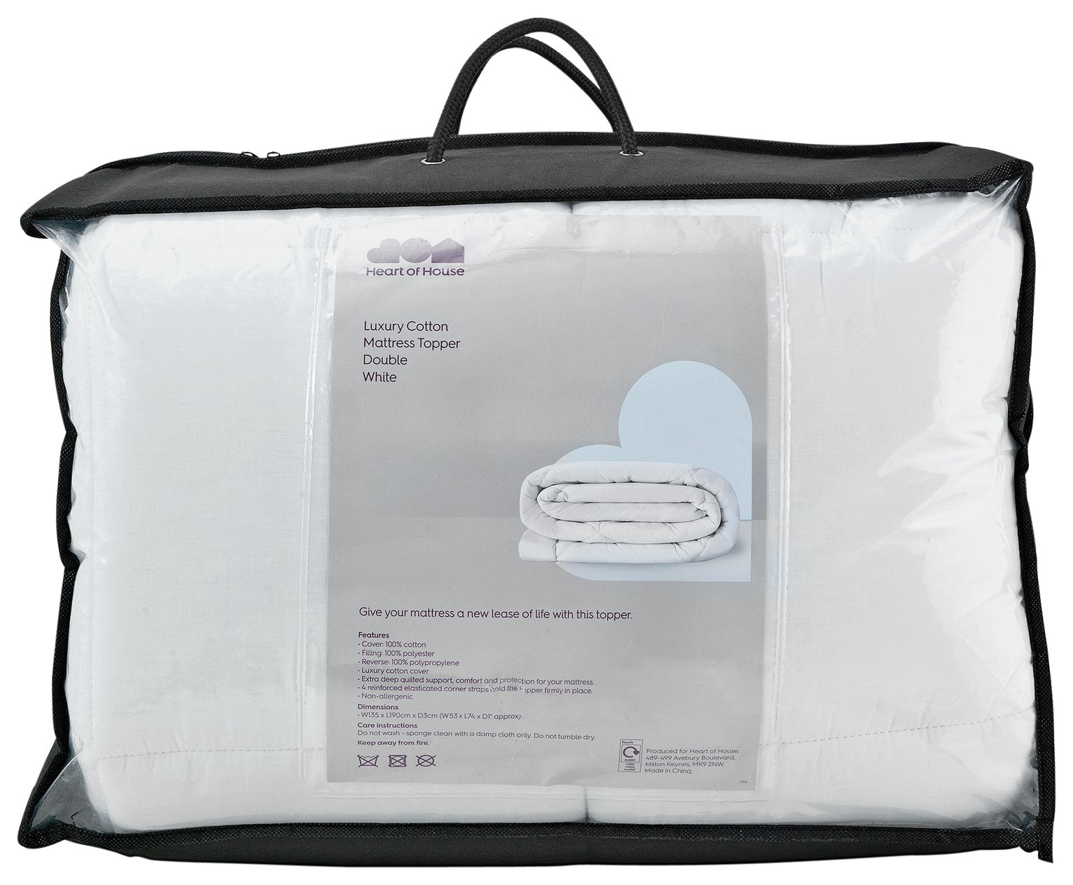 Argos Home 7cm Memory Foam Mattress Topper - Kingsize