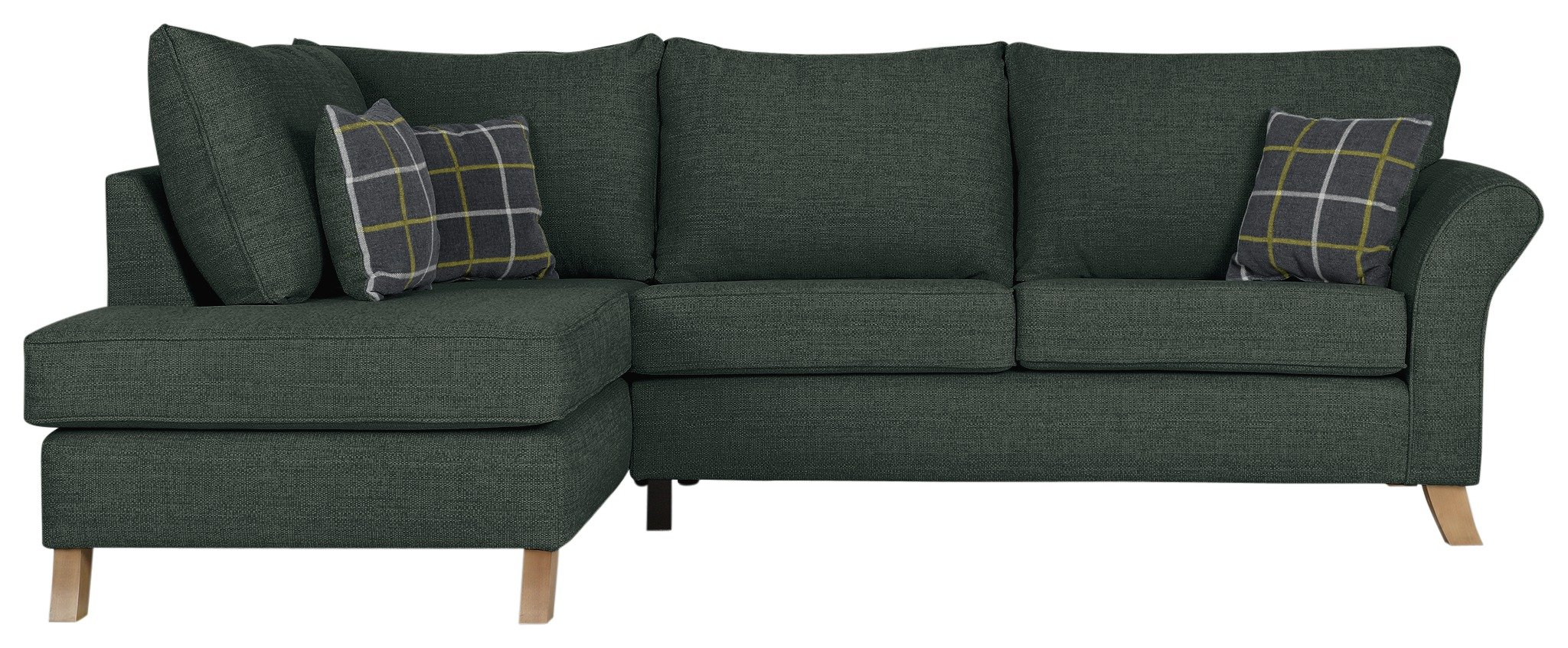 Argos Home Kayla Left Corner Fabric Sofa -Charcoal