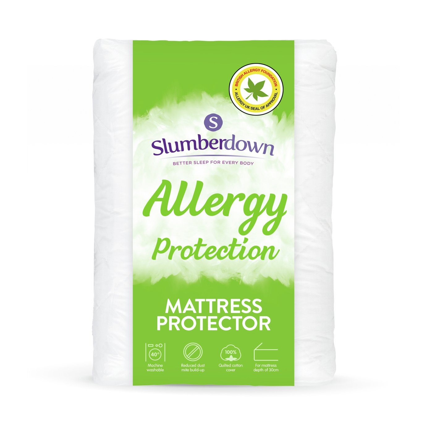 slumberdown fresh and healthy mattress protector  single
