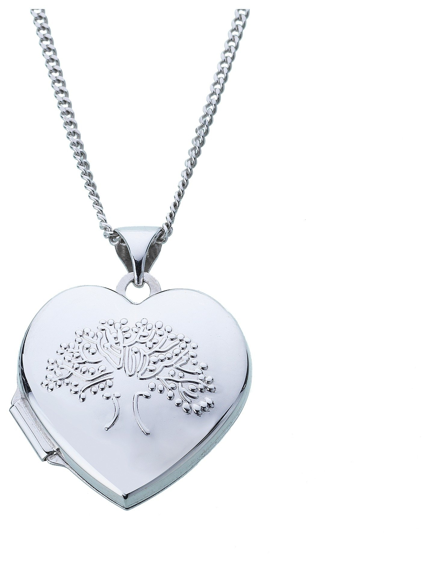 Image of Moon & Back Sterling Silver Family Tree 2 Photo Locket