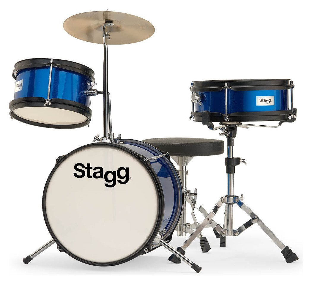 Stagg Junior 3 Piece Drum Kit - Blue