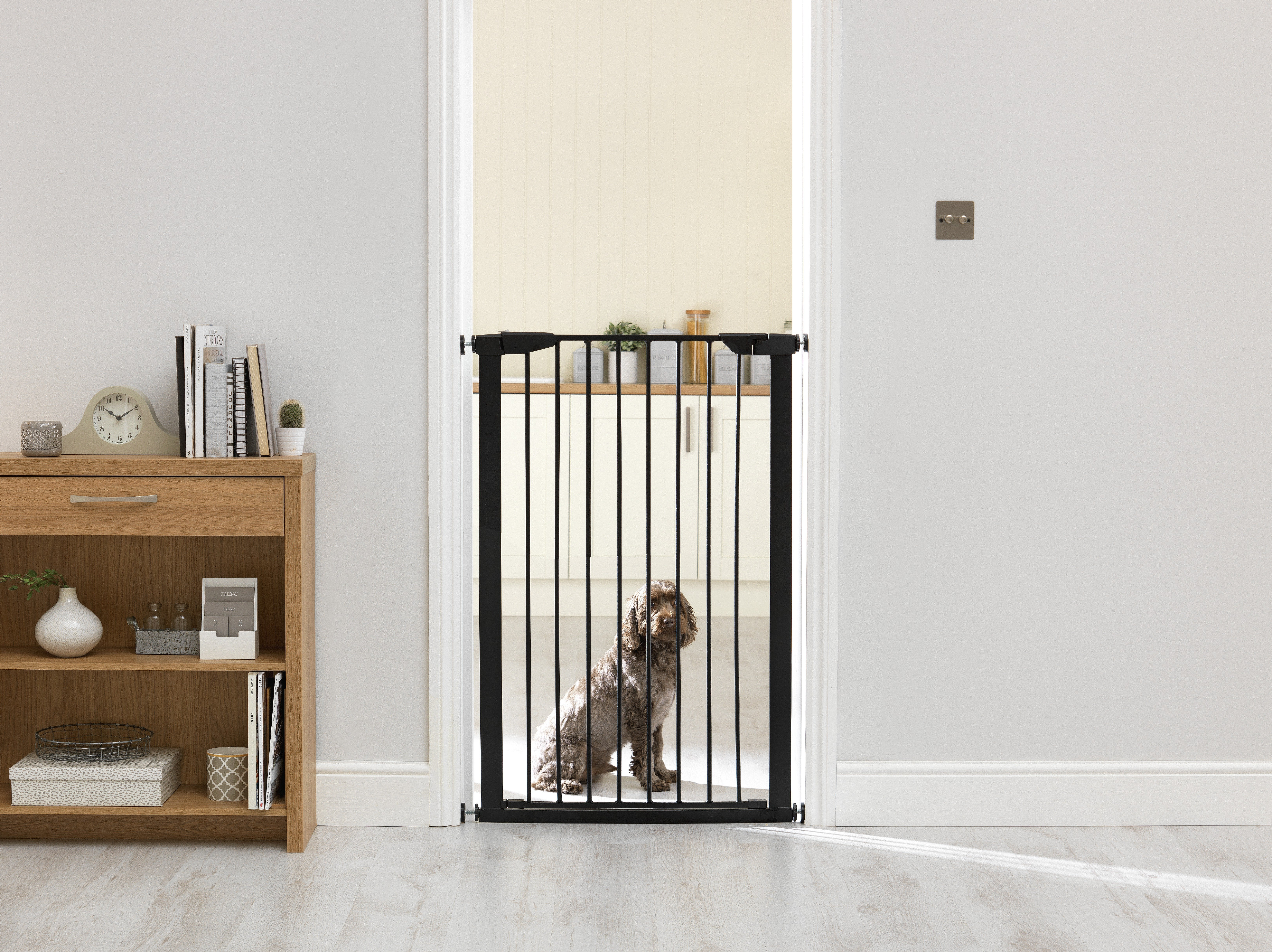 Image of Extra Tall Pressure Fit Pet Gate - Black
