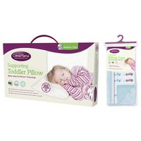 Clevamama ClevaFoam Replacement Toddler Pillowcase - Blue.